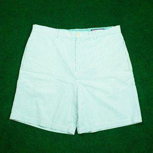 Vineyard Vines Light Green Seersucker Shorts